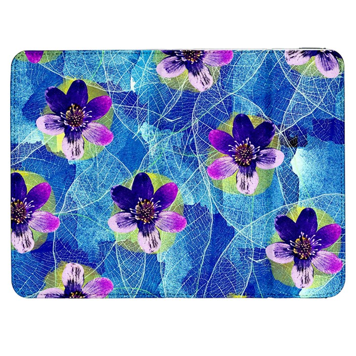 Purple Flowers Samsung Galaxy Tab 7  P1000 Flip Case