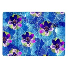 Purple Flowers Samsung Galaxy Tab 10 1  P7500 Flip Case