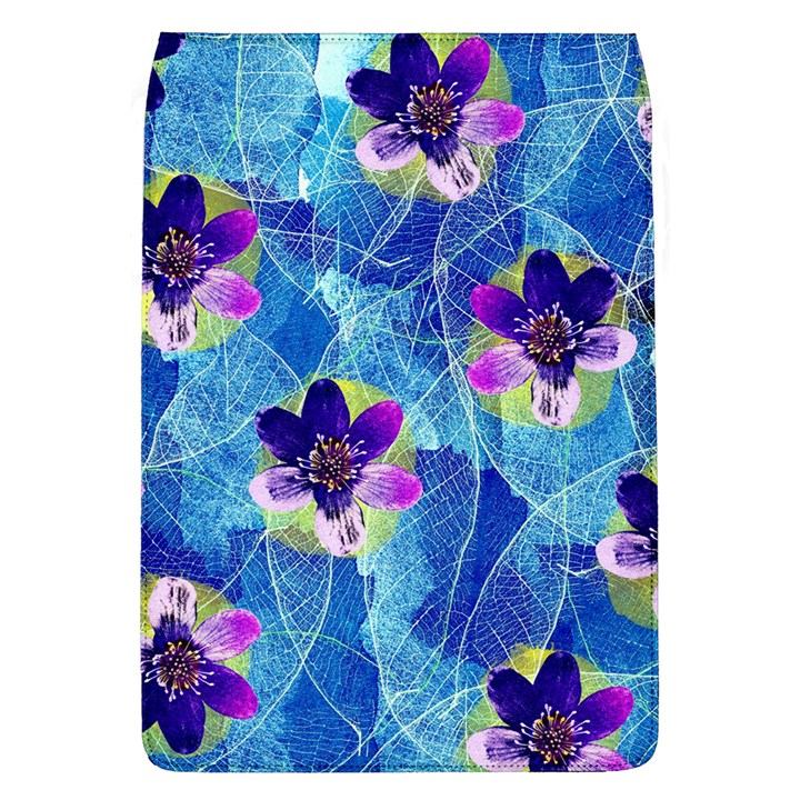 Purple Flowers Flap Covers (L)