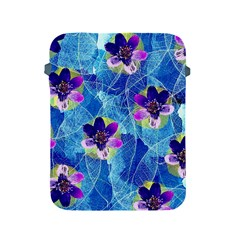 Purple Flowers Apple Ipad 2/3/4 Protective Soft Cases