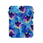 Purple Flowers Apple iPad 2/3/4 Protective Soft Cases Front