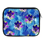 Purple Flowers Apple iPad 2/3/4 Zipper Cases Front