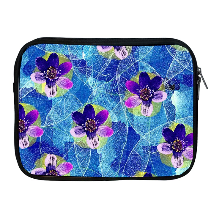 Purple Flowers Apple iPad 2/3/4 Zipper Cases