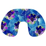 Purple Flowers Travel Neck Pillows Front
