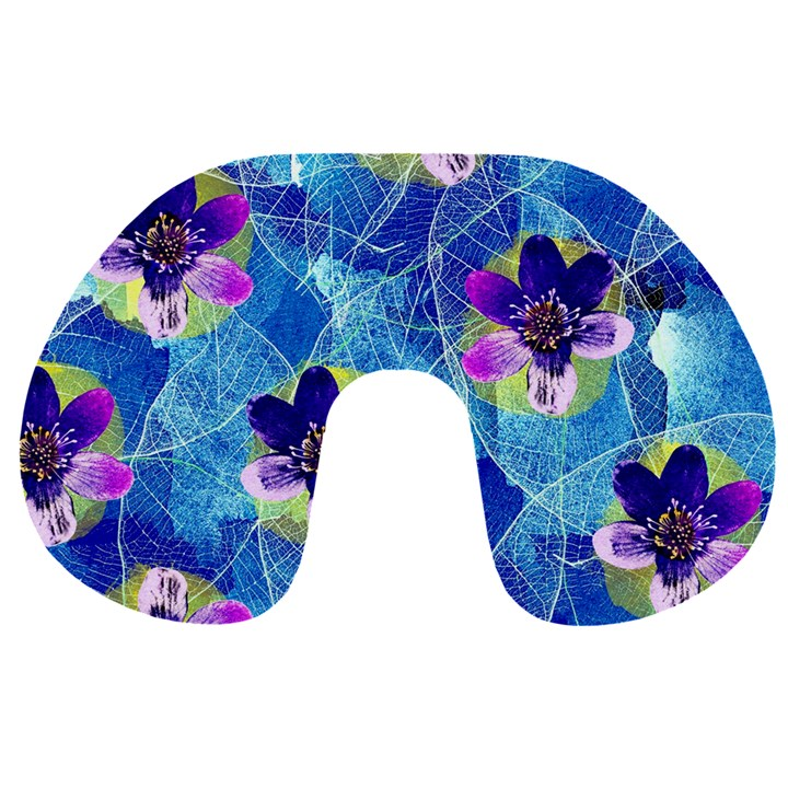 Purple Flowers Travel Neck Pillows
