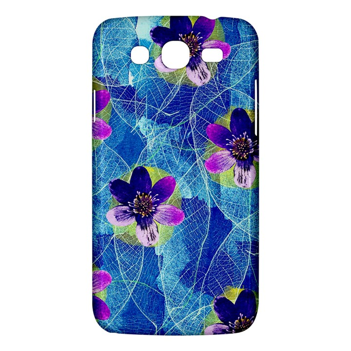 Purple Flowers Samsung Galaxy Mega 5.8 I9152 Hardshell Case