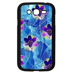 Purple Flowers Samsung Galaxy Grand DUOS I9082 Case (Black) Front