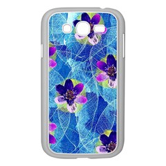 Purple Flowers Samsung Galaxy Grand DUOS I9082 Case (White)