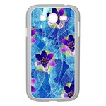 Purple Flowers Samsung Galaxy Grand DUOS I9082 Case (White) Front