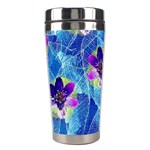Purple Flowers Stainless Steel Travel Tumblers Center