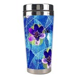Purple Flowers Stainless Steel Travel Tumblers Right