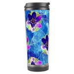 Purple Flowers Travel Tumbler Left
