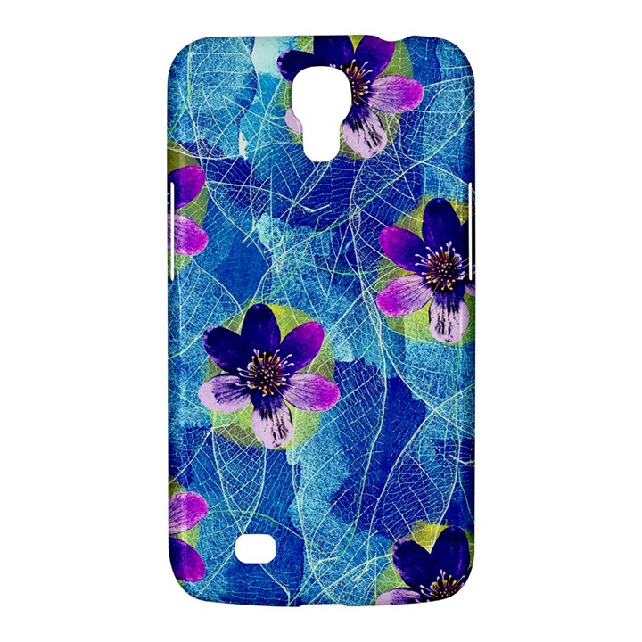Purple Flowers Samsung Galaxy Mega 6.3  I9200 Hardshell Case