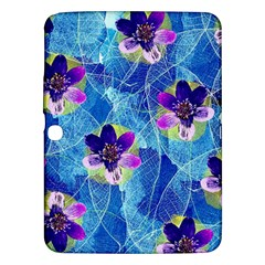Purple Flowers Samsung Galaxy Tab 3 (10.1 ) P5200 Hardshell Case