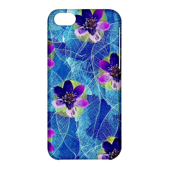 Purple Flowers Apple iPhone 5C Hardshell Case