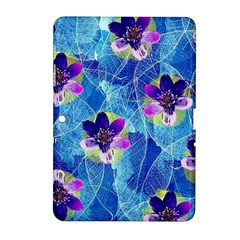 Purple Flowers Samsung Galaxy Tab 2 (10 1 ) P5100 Hardshell Case