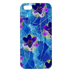 Purple Flowers Iphone 5s/ Se Premium Hardshell Case