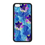 Purple Flowers Apple iPhone 5C Seamless Case (Black) Front