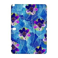 Purple Flowers Samsung Galaxy Note 10.1 (P600) Hardshell Case