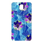 Purple Flowers Samsung Galaxy Note 3 N9005 Hardshell Back Case Front
