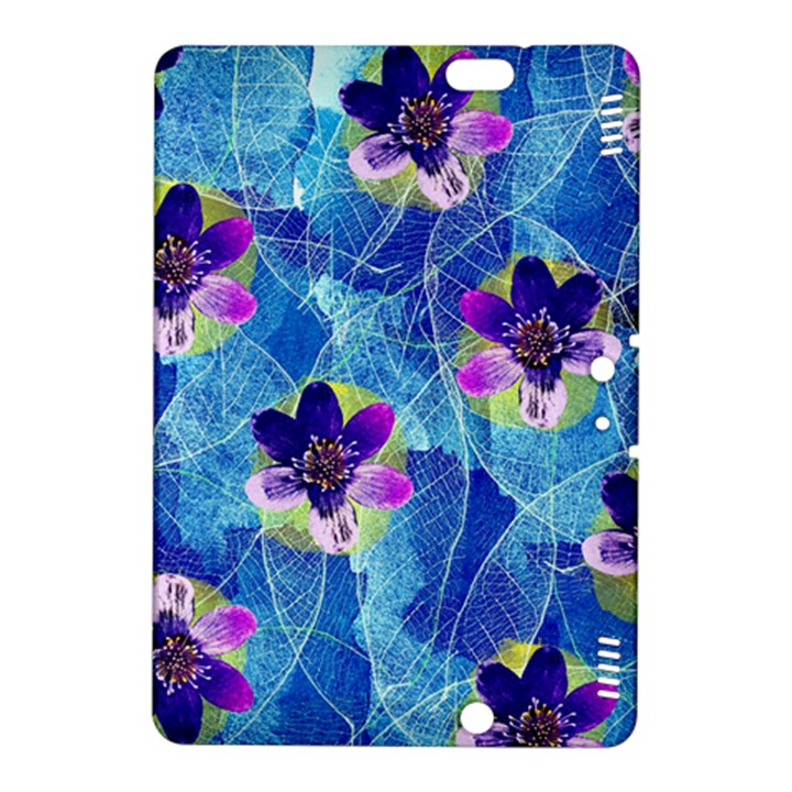 Purple Flowers Kindle Fire HDX 8.9  Hardshell Case