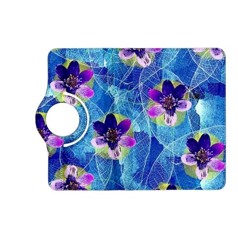 Purple Flowers Kindle Fire HD (2013) Flip 360 Case