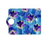 Purple Flowers Kindle Fire HD (2013) Flip 360 Case Front