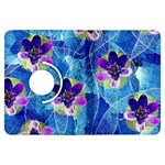 Purple Flowers Kindle Fire HDX Flip 360 Case Front