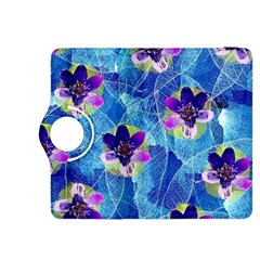 Purple Flowers Kindle Fire HDX 8.9  Flip 360 Case