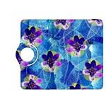 Purple Flowers Kindle Fire HDX 8.9  Flip 360 Case Front