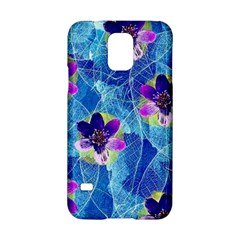 Purple Flowers Samsung Galaxy S5 Hardshell Case