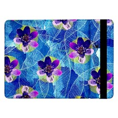 Purple Flowers Samsung Galaxy Tab Pro 12 2  Flip Case