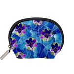 Purple Flowers Accessory Pouches (Small)  Front