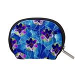 Purple Flowers Accessory Pouches (Small)  Back