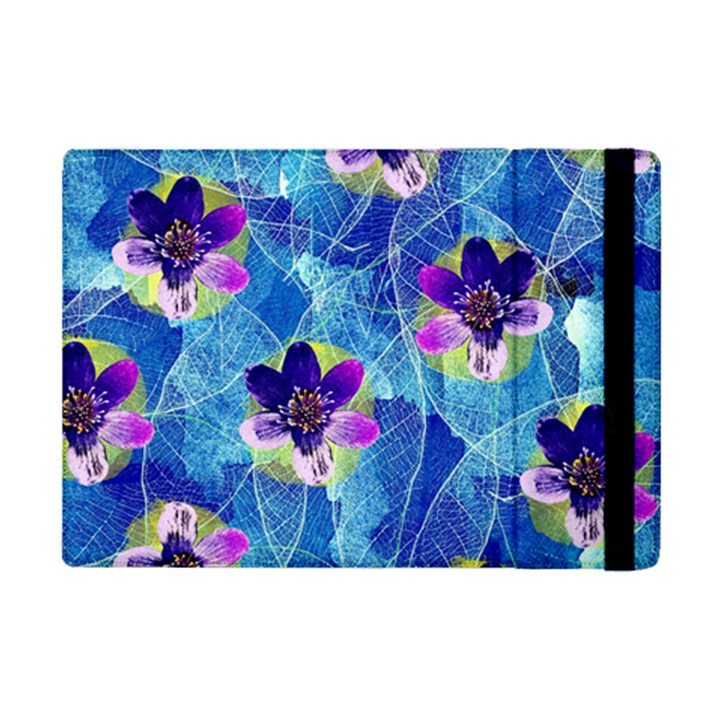 Purple Flowers iPad Mini 2 Flip Cases