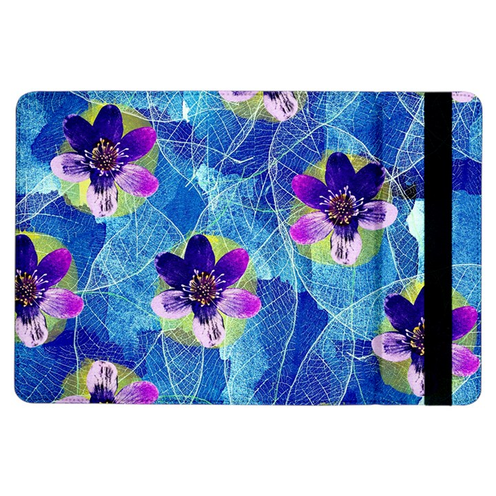 Purple Flowers iPad Air Flip