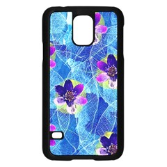 Purple Flowers Samsung Galaxy S5 Case (black)