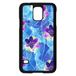 Purple Flowers Samsung Galaxy S5 Case (Black) Front