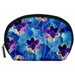 Purple Flowers Accessory Pouches (Large)  Front