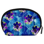 Purple Flowers Accessory Pouches (Large)  Back
