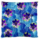 Purple Flowers Large Flano Cushion Case (Two Sides) Back