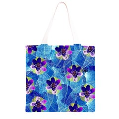 Purple Flowers Grocery Light Tote Bag