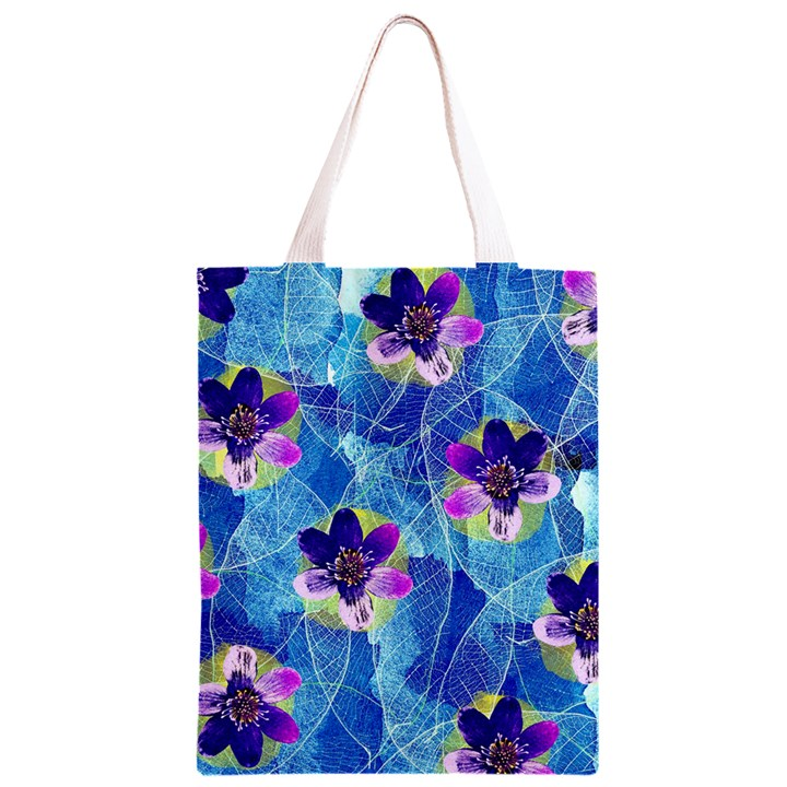 Purple Flowers Classic Light Tote Bag