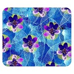 Purple Flowers Double Sided Flano Blanket (Small)  50 x40 Blanket Front