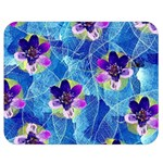 Purple Flowers Double Sided Flano Blanket (Medium)  60 x50 Blanket Front