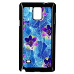 Purple Flowers Samsung Galaxy Note 4 Case (Black) Front
