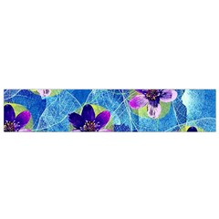 Purple Flowers Flano Scarf (Small)
