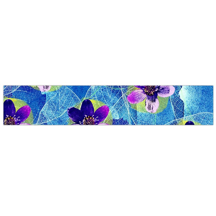 Purple Flowers Flano Scarf (Large)