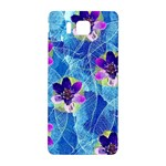 Purple Flowers Samsung Galaxy Alpha Hardshell Back Case Front