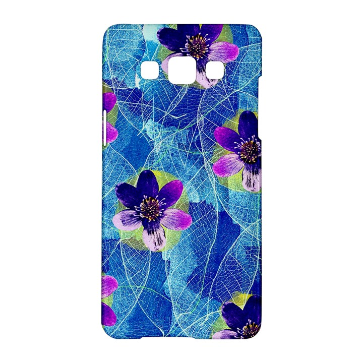 Purple Flowers Samsung Galaxy A5 Hardshell Case